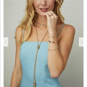 Kendra Scott Phara Lariat Necklace in Gold
